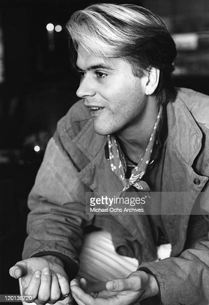 Percussionist Steve Norman of the pop band Spandau Ballet poses for a portrait session in 1985 in New York City New York