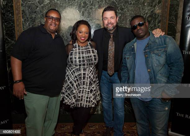 Percy Bady Kierra Sheard John J Thompson and Warryn Campbell attend the Gospel Fest Kickoff Event at Claudia Cassidy Theater at the Chicago Cultural...