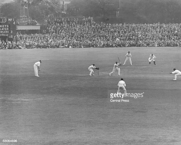 Percy Chapman , captaining England for the first time, batting against Australia at the Oval in the 5th Test of 1926. Australia won the series 3-0...