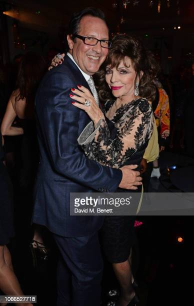 Percy Gibson and Dame Joan Collins attend the Claridge's Zodiac Party hosted by Diane von Furstenberg Edward Enninful to celebrate the Claridge's...