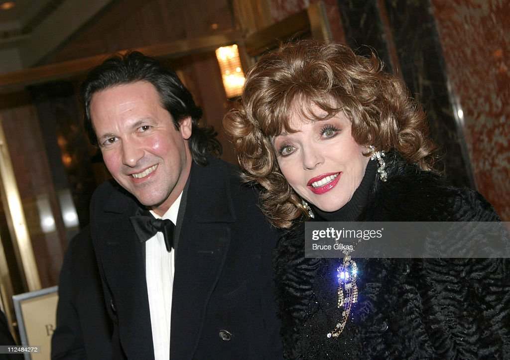 Percy Gibson and wife Joan Collins during 'Dirty Rotten Scoundrels' Broadway Opening Night at The Imperial Theater in New York City, New York, United States.