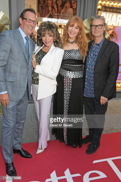 Percy Gibson Joan Collins Charlotte Tilbury and George Waud attend the premiere party for the launch of awardwinning brand Charlotte Tilbury at the...