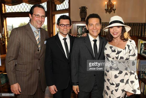 Percy Gibson Terrence Flannery Michael Feinstein and Joan Collins attend the wedding of Michael Feinstein and Terrence Flannery held at a private...
