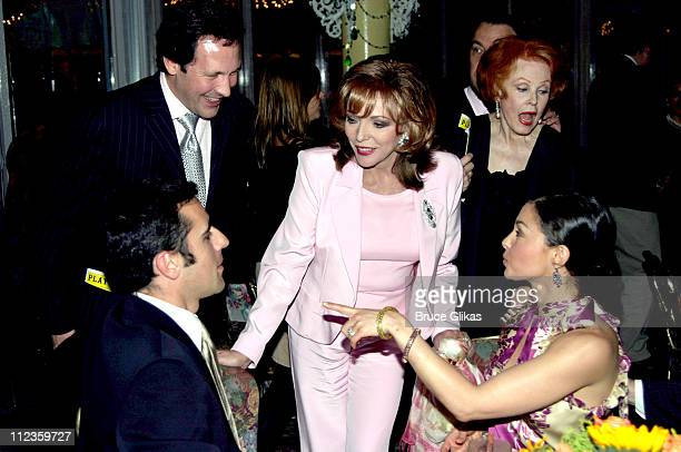 Percy Gibson wife Joan Collins Arlene Dahl with Dario Franchitti and Ashley Judd sitting *Exclusive*