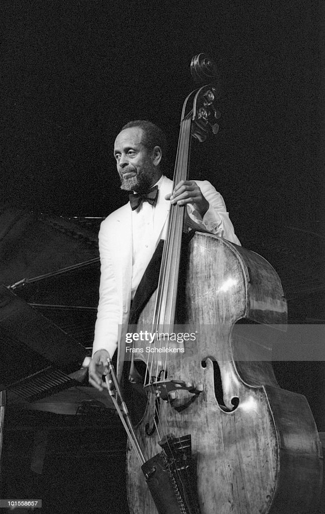 Percy Heath performs live on stage at The North Sea Jazz Festival in The Hague, Holland on July 13 1985
