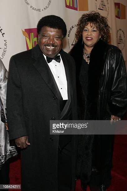 Percy Sledge inductee and wife Rosa during 20th Annual Rock and Roll Hall of Fame Induction Ceremony Red Carpet at Waldorf Astoria in New York City...