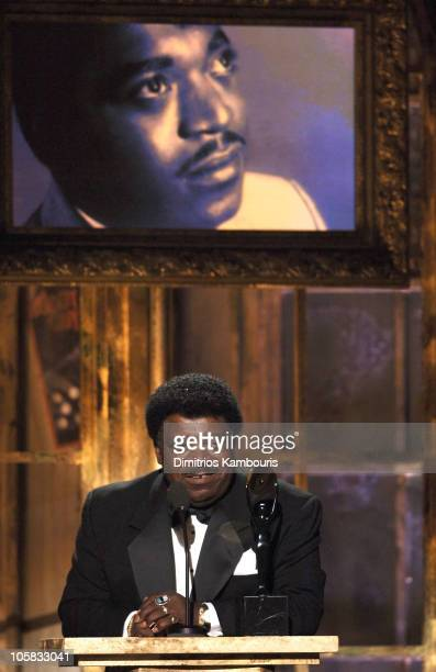 Percy Sledge inductee during 20th Annual Rock and Roll Hall of Fame Induction Ceremony Show at Waldorf Astoria in New York City New York United States
