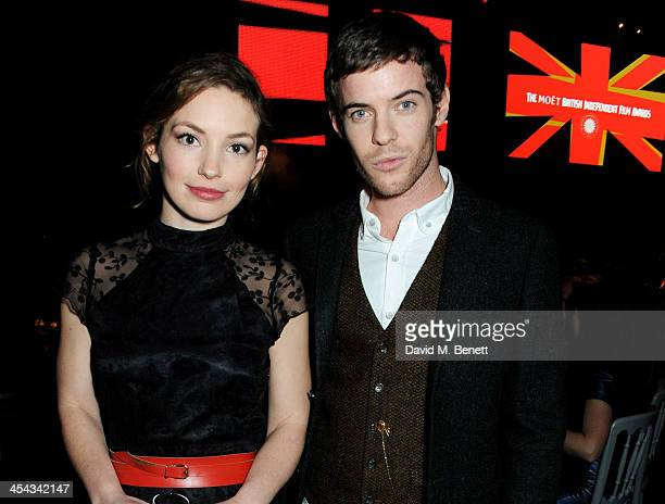 Perdita Weeks and Harry Treadaway attend the Moet Reception at the Moet British Independent Film Awards 2013 at Old Billingsgate Market on December 8...