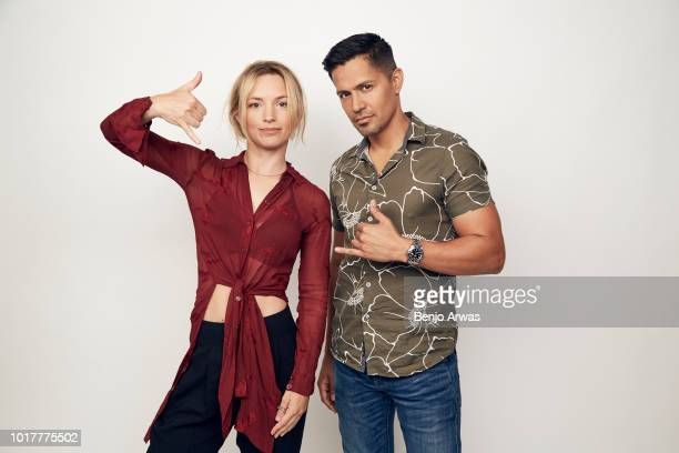 Perdita Weeks and Jay Hernandez of CBS's 'Magnum PI' pose for a portrait during the 2018 Summer Television Critics Association Press Tour at The...
