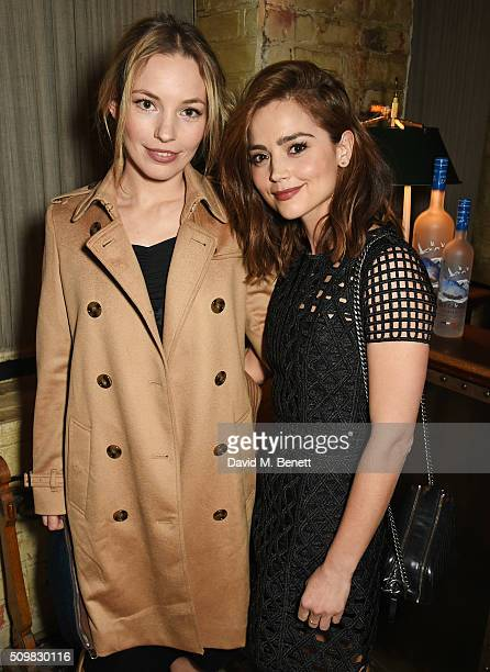 Perdita Weeks and Jenna Coleman attend Harvey Weinstein's preBAFTA dinner in partnership with Burberry and GREY GOOSE at Little House Mayfair on...