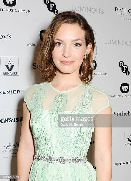 Perdita Weeks attends a BFI Luminous Gala ahead of the London Film Festival at 8 Northumberland Avenue on October 8 2013 in London England