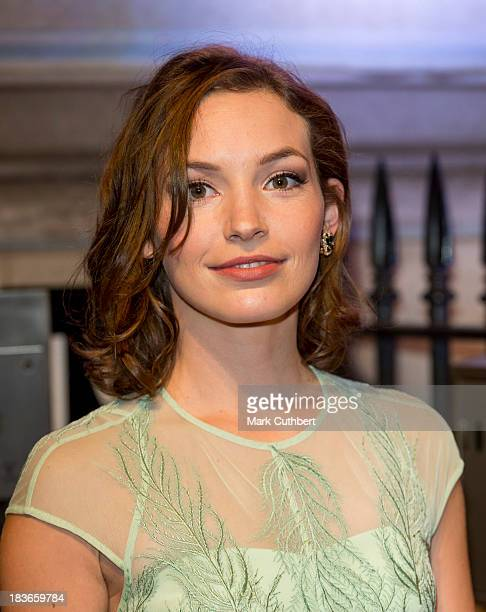 Perdita Weeks attends a gala dinner hosted by the BFI ahead of the London Film Festival at 8 Northumberland Avenue on October 8 2013 in London England