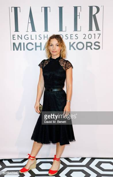Perdita Weeks attends Tatler's English Roses 2017 in association with Michael Kors at the Saatchi Gallery on June 29 2017 in London England