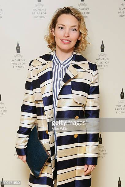 Perdita Weeks attends the Baileys Women's Prize for Fiction 2016 Shortlist at Royal Festival Hall Southbank Centre on April 11 2016 in London England