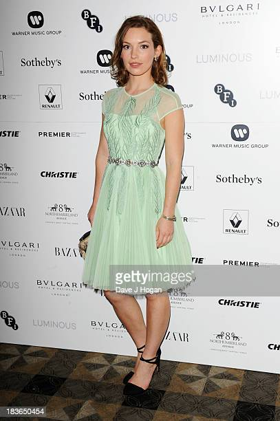 Perdita Weeks attends the BFI Luminous Gala dinner at 8 Northumberland Avenue on October 8 2013 in London England