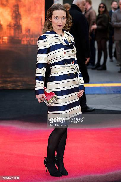 Perdita Weeks attends the European premiere of Godzilla at the Odeon Leicester Square on May 11 2014 in London England