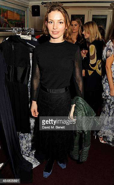 Perdita Weeks attends the launch of the Beulah London / French Sole collaboration in aid of the UN Blue Heart Campaign at The George Club on December...