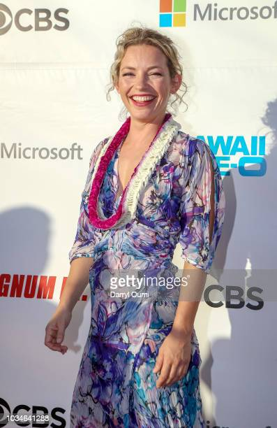 Perdita Weeks attends the Sunset On The Beach event celebrating the 50th anniversary of Hawaii Five0 and the premiere of Magnum PI at Queen's Surf...