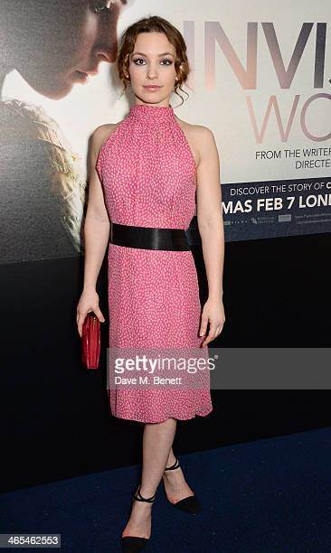 Perdita Weeks attends the UK Premiere of The Invisible Woman at the ODEON Kensington on January 27 2014 in London England