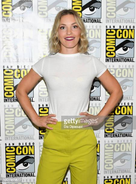 Perdita Weeks of 'Magnum PI' attends CBS Television Studios Press Line during ComicCon International 2018 at Hilton Bayfront on July 19 2018 in San...