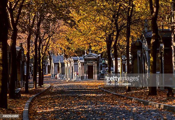 pere lachaise cemetery in paris, france - friedhof stock-fotos und bilder