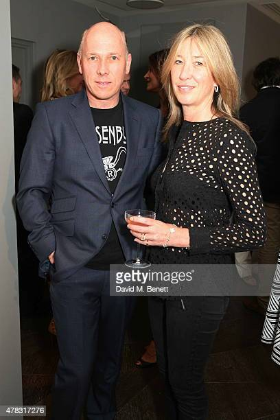 Peregrine and Caroline Armstrong Jones arrive at the Private View of Firedance the inaugural art exhibition of artist Michael Flatley at 12 Hay Hill...