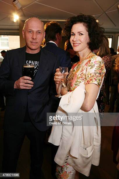 Peregrine Armstrong Jones and Mollie Dent Brocklehurst arrive at the Private View of Firedance the inaugural art exhibition of artist Michael Flatley...