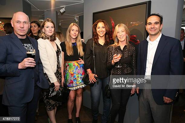 Peregrine Armstrong Jones Tarka Russell Tor Dashwood Zein Kurdi Caroline Armstrong Jones and Saad Kurdi arrive at the Private View of 'Firedance' the...
