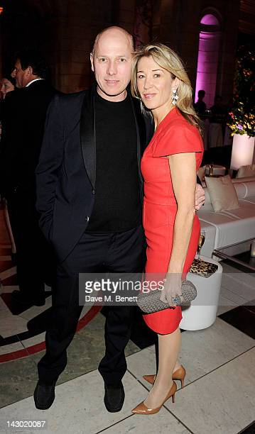 Peregrine ArmstrongJones and Anna Nicholas attend Jonathan Shalit's 50th birthday party at The VA on April 17 2012 in London England