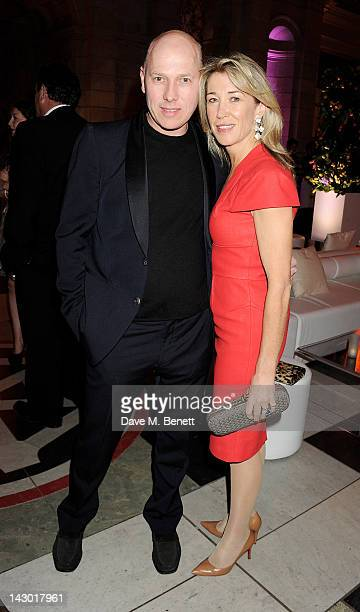Peregrine ArmstrongJones attends Jonathan Shalit's 50th birthday party at The VA on April 17 2012 in London England