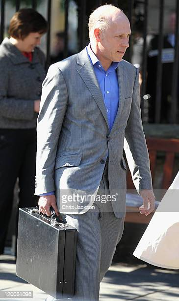 Peregrine ArmstrongJones leaves Canongate Kirk after a wedding rehearsal on July 29 2011 in Edinburgh Scotland The Queen's granddaughter Zara...