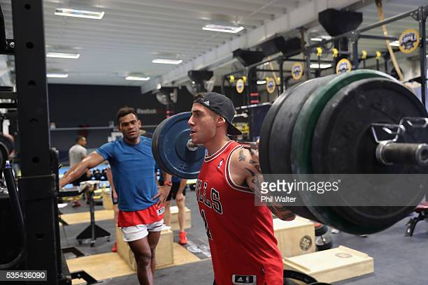 Perenara of the All Blacks during a gym session at Les Mills on May 30 2016 in Auckland New Zealand