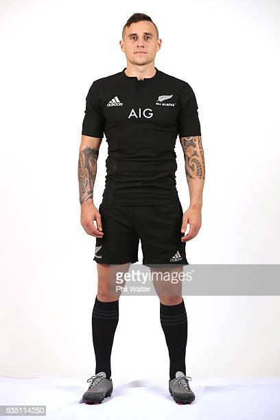 Perenara of the All Blacks poses for a portrait during a New Zealand All Black portrait session on May 29 2016 in Auckland New Zealand