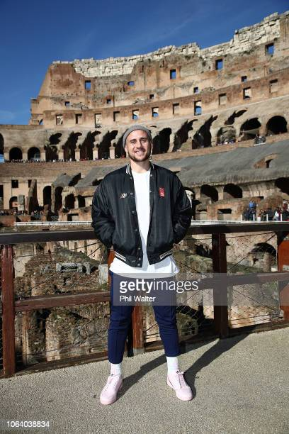 Perenara of the New Zealand All Blacks poses for a portrait as several of the team visit the Colosseum on November 21 2018 in Rome Italy