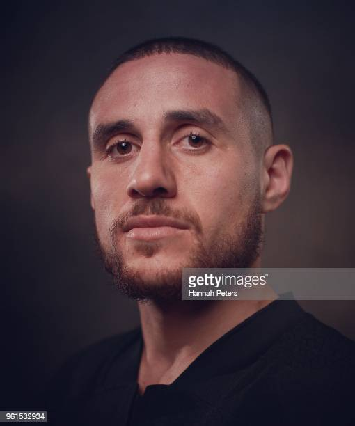 TJ Perenara poses during a New Zealand All Blacks portraits session on May 21 2018 in Auckland New Zealand