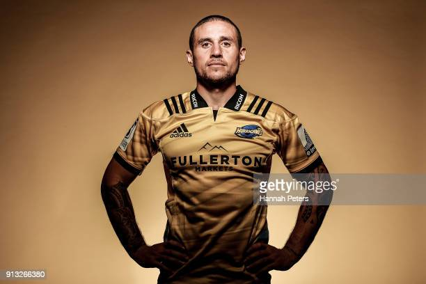 Perenara poses during the Wellington Hurricanes 2018 Super Rugby headshots session on January 22 2017 in Auckland New Zealand