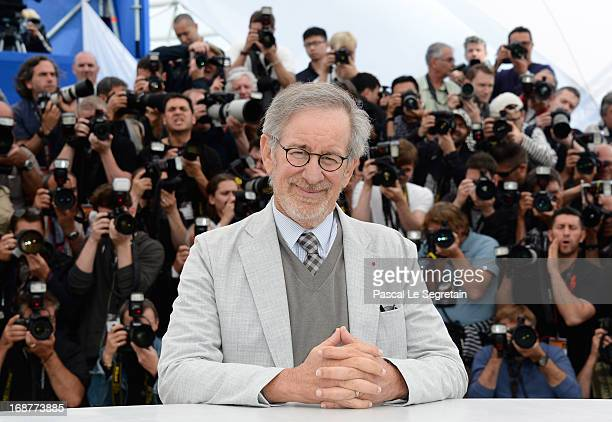 Peresident of the Jury Steven Spielberg attends the Jury Photocall during the 66th Annual Cannes Film Festival at the Palais des Festivals on May 15...