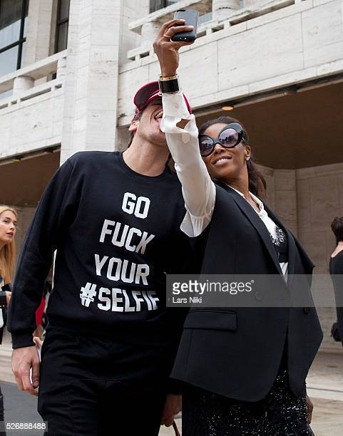 eaa520e44a10 Perez Hilton and June Ambrose attend Mercedes Benz Fashion Week SS15 at  Lincoln Center in New