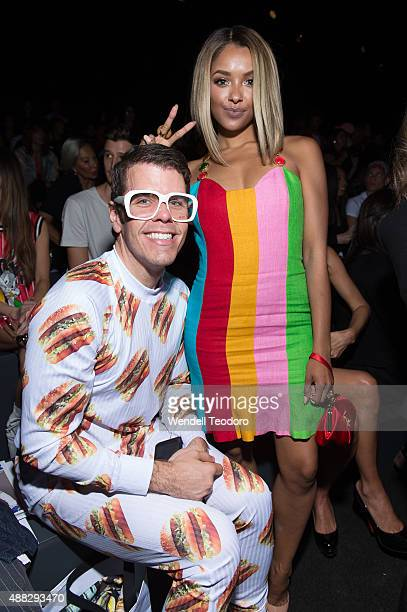 Perez Hilton and Kat Graham attend the Jeremy Scott show at The Arc, Skylight at Moynihan Station as part of 'NYFW The Shows' Spring 2016 New York...