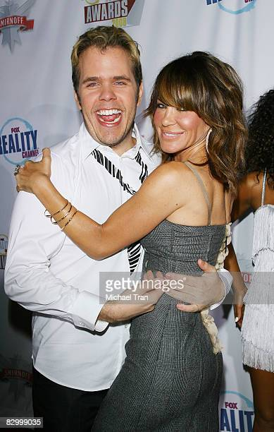 Perez Hilton and Robin Antin arrive at the FOX Reality Channel Really Awards held at Avalon Nightclub on September 24 2008 in Hollywood California
