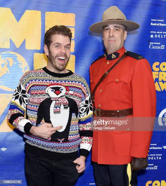 Perez Hilton arrives at the Come From Away Opening Night Performance at Ahmanson Theatre on November 28 2018 in Los Angeles California