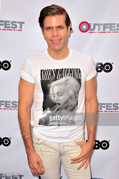 Perez Hilton arrives at the Outfest Opening Night Gala of COG at Orpheum Theatre on July 11 2013 in Los Angeles California