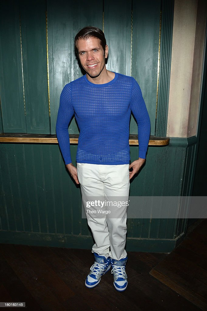 Perez Hilton attends Burberry Acoustic presents Tom O'Dell on September 9, 2013 in New York City.