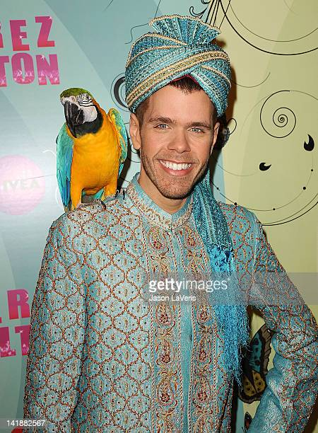 Perez Hilton attends his Mad Hatter tea party birthday celebration on March 24 2012 in Los Angeles California