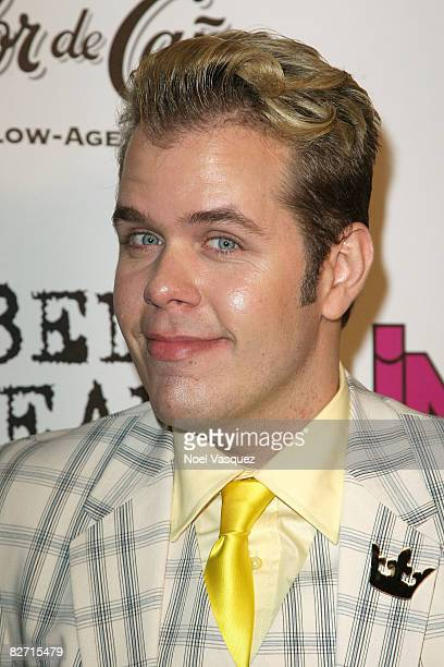 Perez Hilton attends InTouch Weekly's ICONSIDOLS PostVMA Celebration at Chateau Marmont on September 7 2008 in Los Angeles California