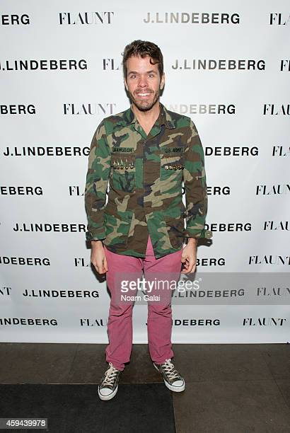 Perez Hilton attends the Celebration of Chris Pine's cover of Flaunt Magazine at Beautique on November 22 2014 in New York City