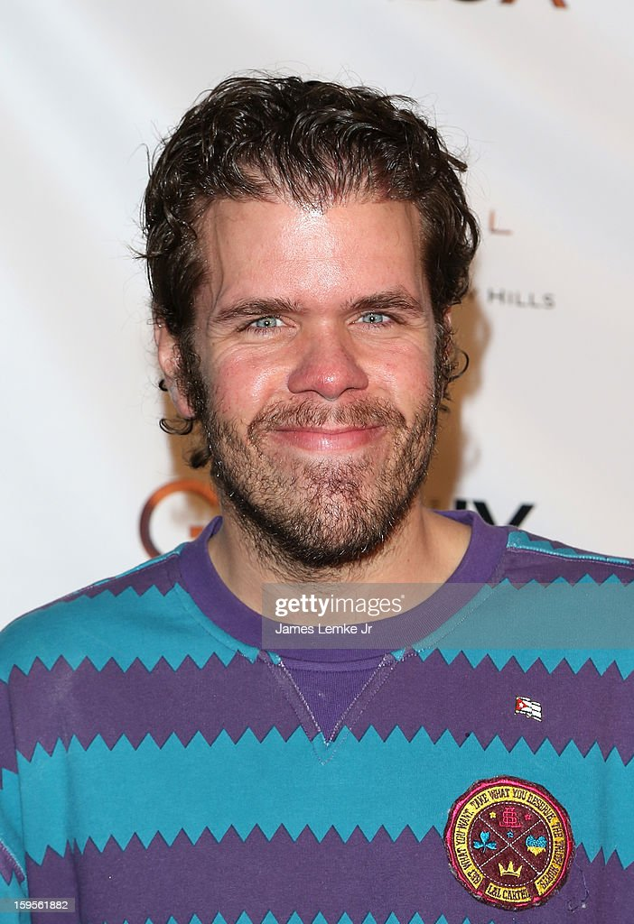 Perez Hilton attends the Genlux Cover Girl Kristin Chenoweth Celebrates Opening of new bar Riviera 31 at The Sofitel L.A. on January 15, 2013 in Beverly Hills, California.