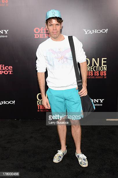 """Perez Hilton attends the New York premiere of """"One Direction: This Is Us"""" at the Ziegfeld Theater on August 26, 2013 in New York City."""