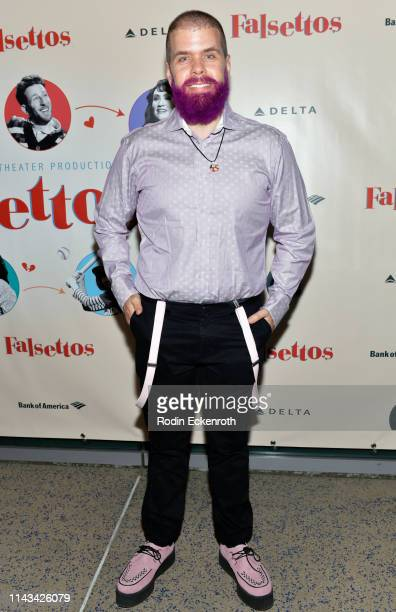 Perez Hilton attends the opening of Center Theatre Group's Falsettos at Ahmanson Theatre on April 17 2019 in Los Angeles California