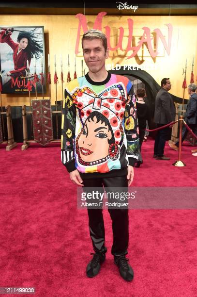 Perez Hilton attends the World Premiere of Disney's 'MULAN' at the Dolby Theatre on March 09 2020 in Hollywood California